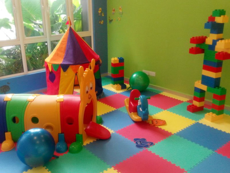 10. indoor children's playroom