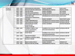 11 Festival Kenyir Programme