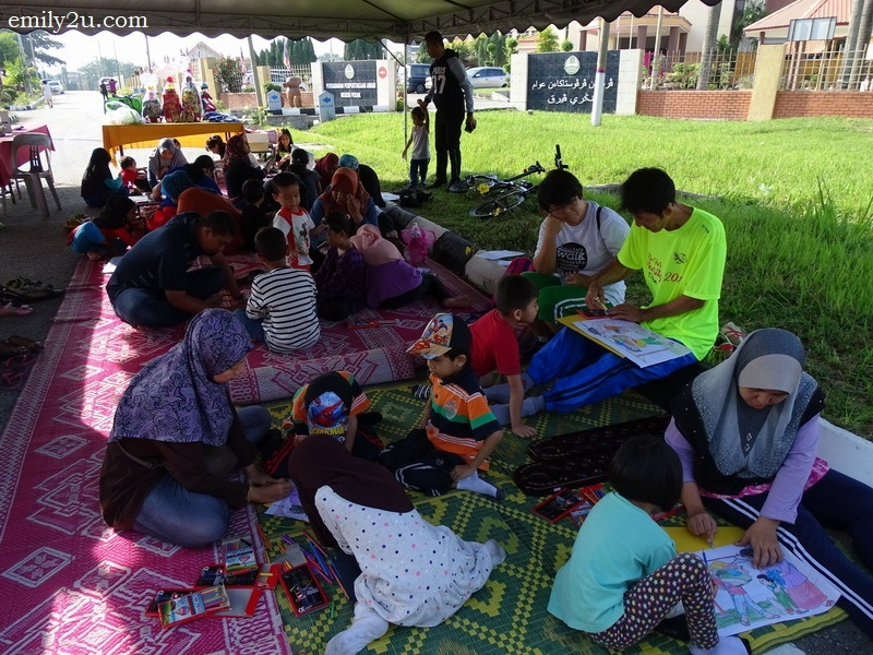 13. colouring contest organised by the Perak State Public Library