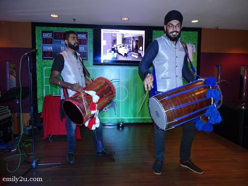 2. an upbeat bhangra performance to relaunch Bistro