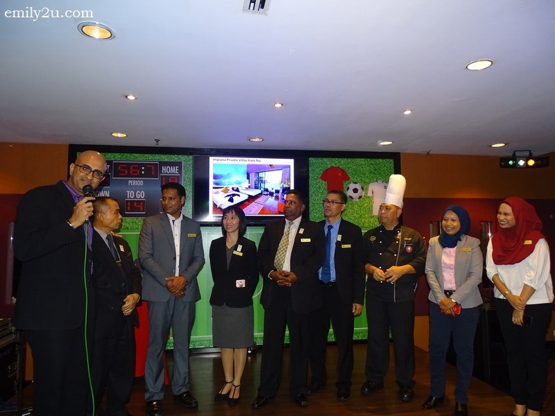 4. Impiana Hotel Ipoh General Manager Raajdeep Dhillon (L) introduces his Head of Departments