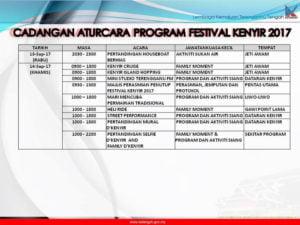 9 Festival Kenyir Programme
