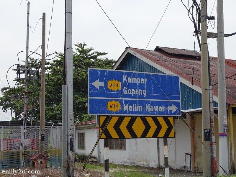 1. take the Kampar/Gopeng road rather than Malim Nawar