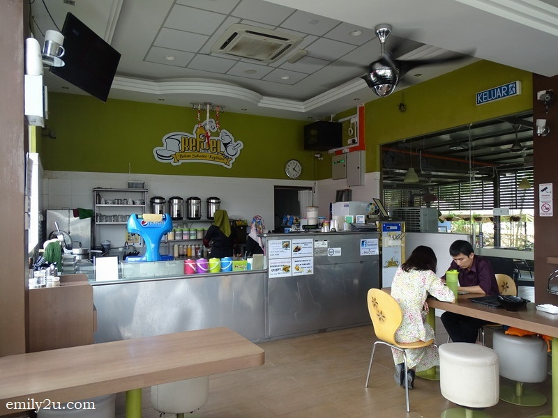 interior of Refuel Café, Selama