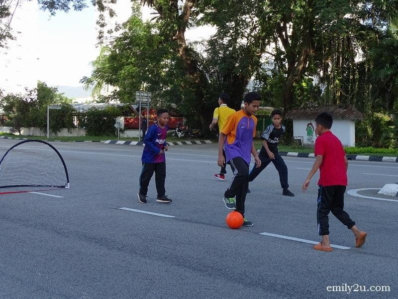 17. street soccer