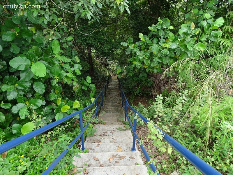 4. the stairs descending to the exit