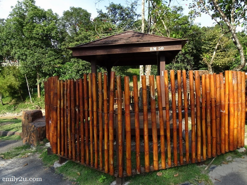 7. private gazebos are rented out at RM50 per day