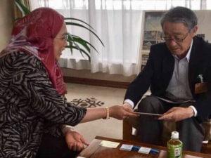 Meeting with Hakuba Goryo Mayor