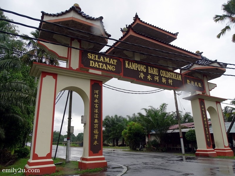 1. the arch of Kampung Baru Coldstream, Perak