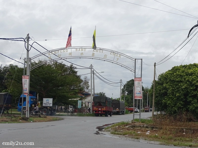 10. entrance to Chui Chak New Village, opposite the paddy fields