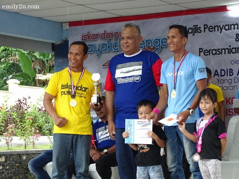 13. winners of the Iskandar Puteri Kayak Challenge