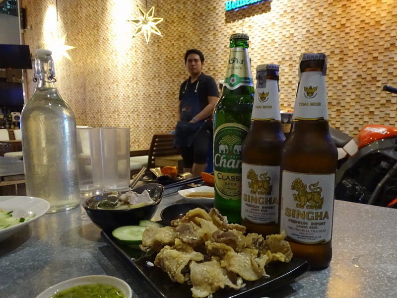 beer pairing with Moo Sam Chan Tod (3-Layer Fried Pork)