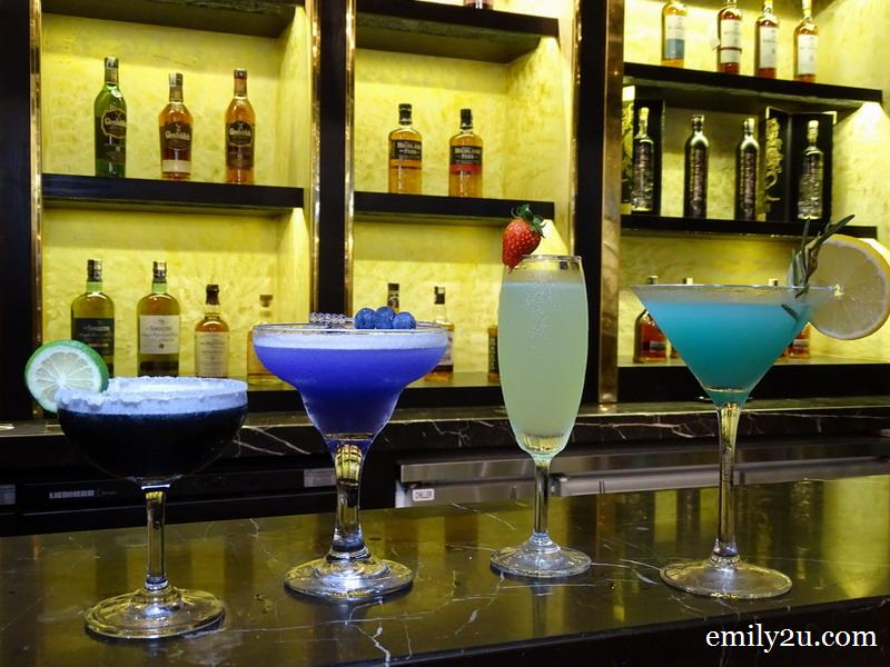 19. Cocktails (L-R): Gentlemen Black, Butterfly, Northern Light and Bluelady