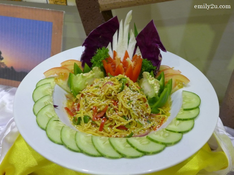 2. Thai Mango Salad with Fried Shrimp