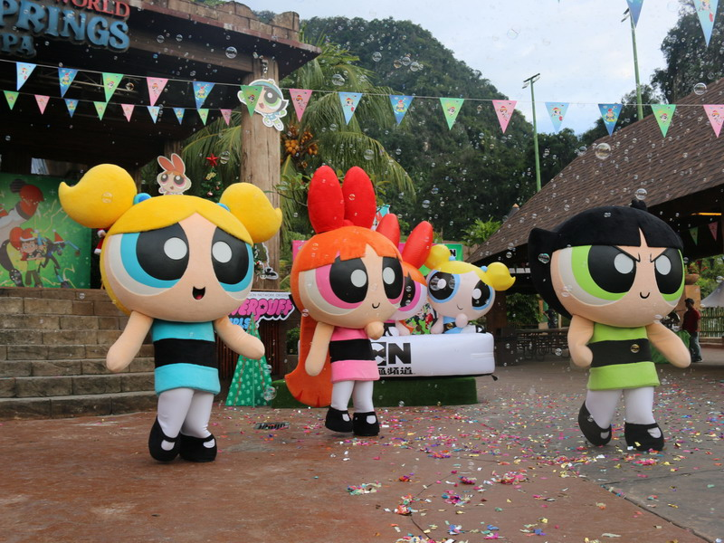 4. The Powerpuff Girls dancing