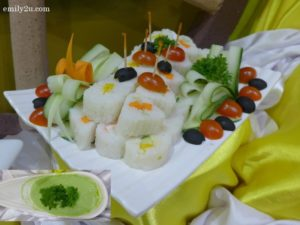 5 Assorted Sushi with Wasabi