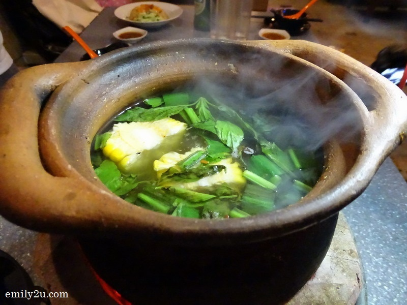 Thai hot pot with original clear broth