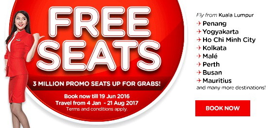 AirAsia free seat promo