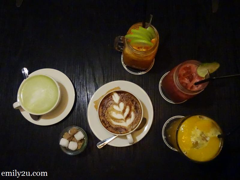 4. an assortment of beverages at ACME Bar.Coffee