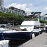 Cruising the Straits of Johor on The Black Pearl