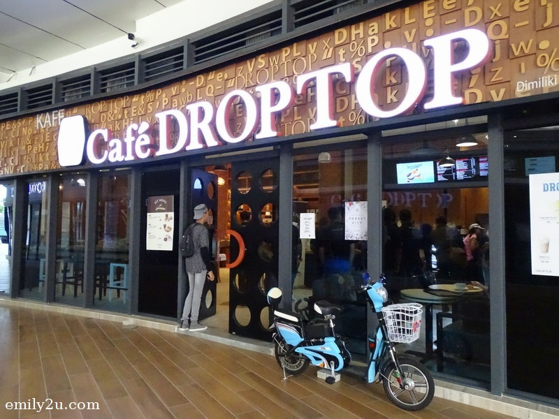 1. façade of Café Droptop