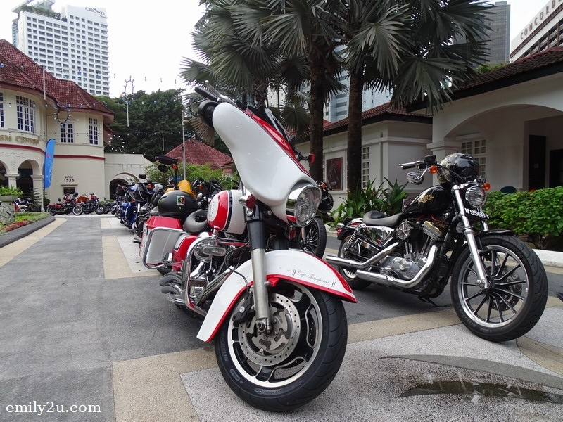 1. Harley-Davidson motorcycles from members of Kingz MG Malaysia all lined up
