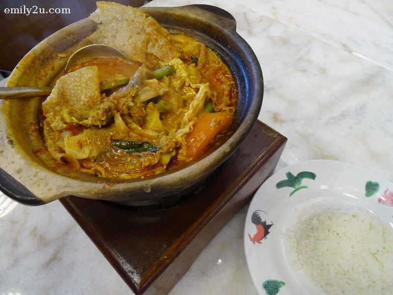 11. Claypot Curry Fish Head and Rice