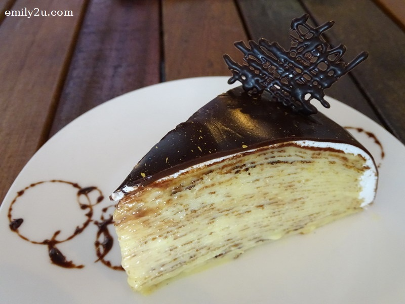 12. Boston Creme Crêpe Cake
