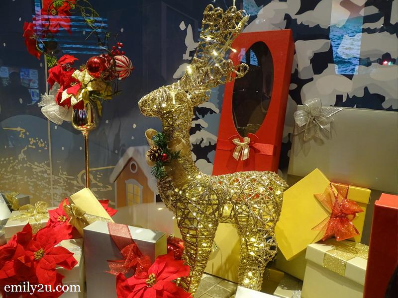 13. decorative golden reindeer