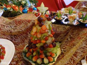 17 Mixed Fruit Christmas Tree