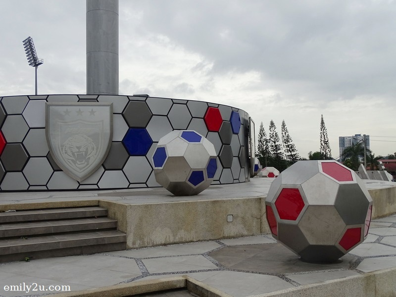 2. football decor outside the stadium
