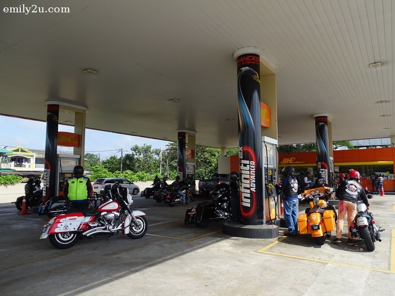 20. fuel stop at BHPetrol before the long road journey begins