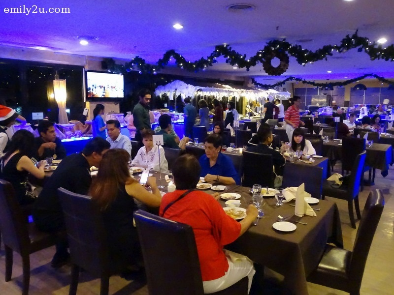 3. diners celebrate Christmas at Tower Regency Hotel, Ipoh