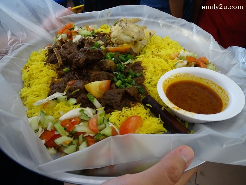 5. the curry mutton rice is ready to be served
