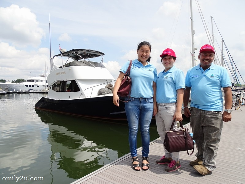 9. travel mates from C.A.M. (Sendok Group) pose with The Black Pearl