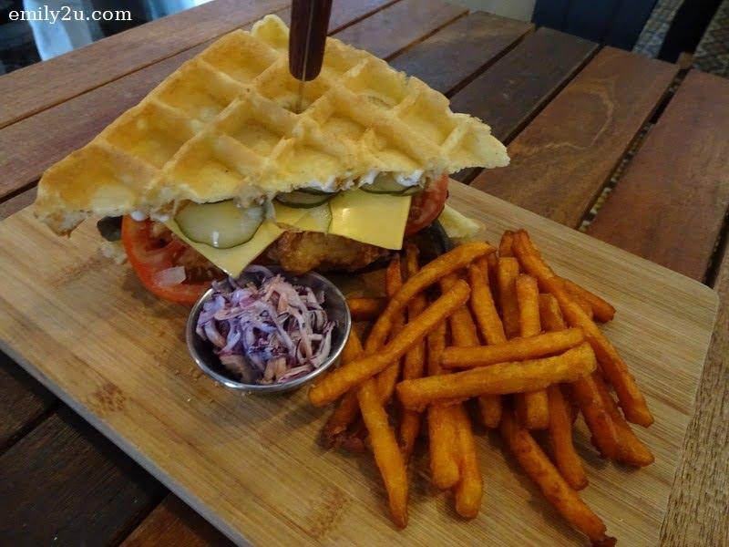 9. Fried Chicken Waffle Sandwich