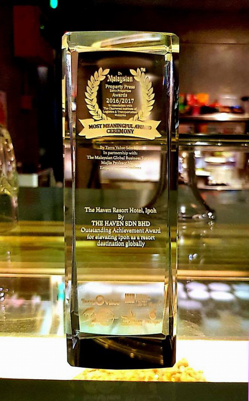 one of the two awards accorded to The Haven Resort Hotel Ipoh All Suites