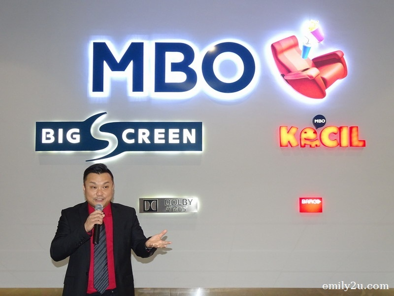 1. Cheah Chun Wai, Chief Operating Officer of MBO Cinemas, welcomes guests with a short speech