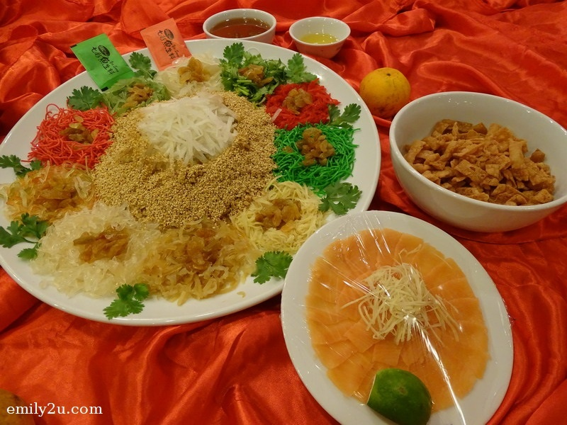 11. Menu C - Prosperity Salmon Yee Sang