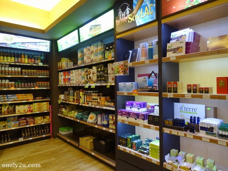 5. shelves and shelves of organic products