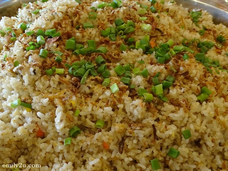 6. fried rice with mushroom
