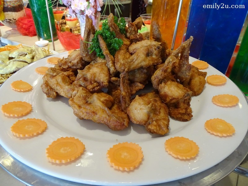 8. chicken wings fried with shrimp paste