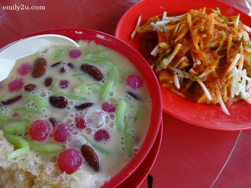 8. cendol and pasembur