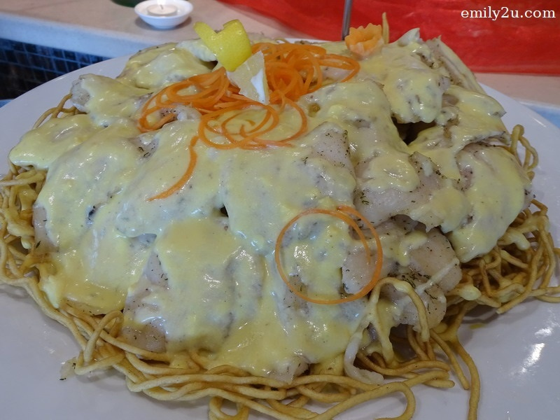9. oven-baked fish with lemon cream sauce