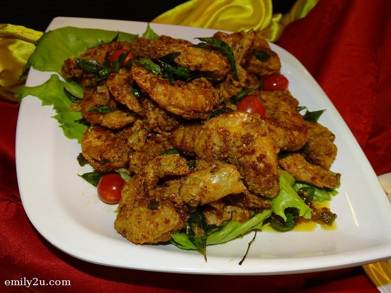 9. Prawns with Salted Eggs