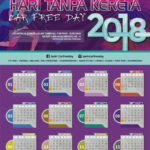 2018 Ipoh Car-Free Day Calendar