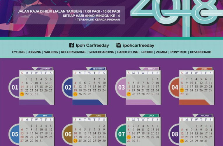 2018 Ipoh Car-Free Day Calendar