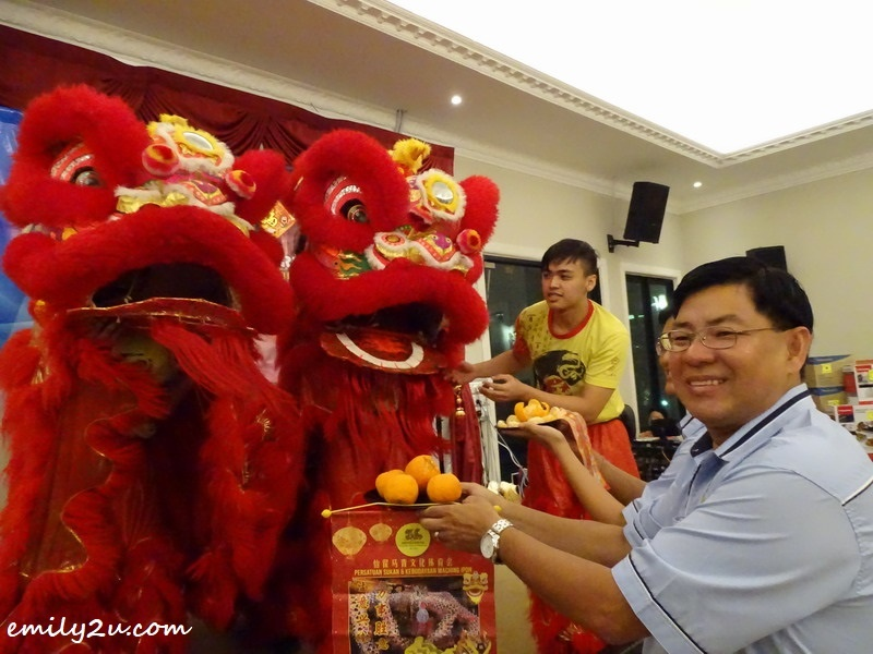 1. double lion dance to bless the CNY event