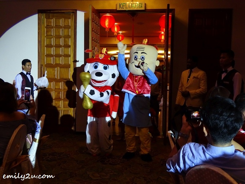 24. the dog mascot makes an appearance for Year of the Dog