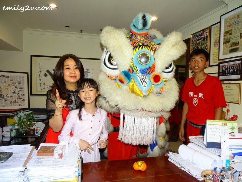 3. in the office of Syeun Hotel Director Maggie Ong (L)